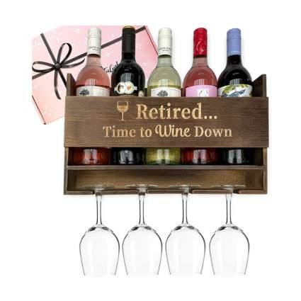 retirement wooden wine rack