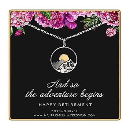 sterling silver retirement necklace