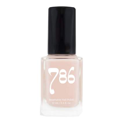 Light cream nail polish bottle
