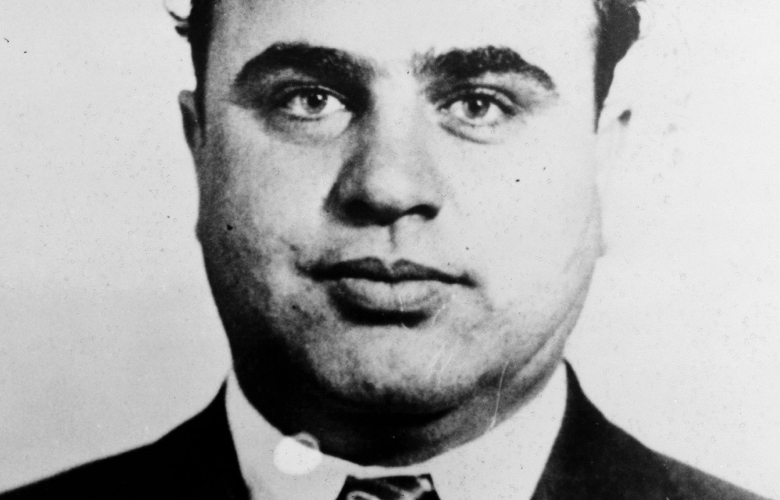 Mug shot of Chicago mobster Al Capone