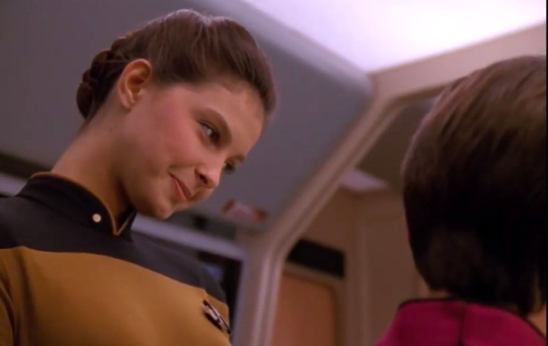 "Ensign Robin Lefler in ""Star Trek: The Next Generation"""