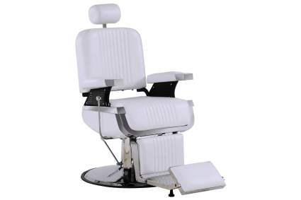 White barber chair