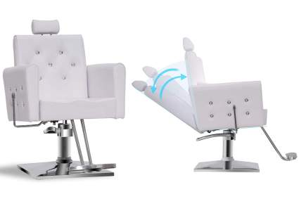 White reclining barber chair