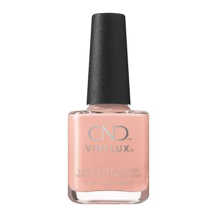 CND Vinylux peach nail polish bottle