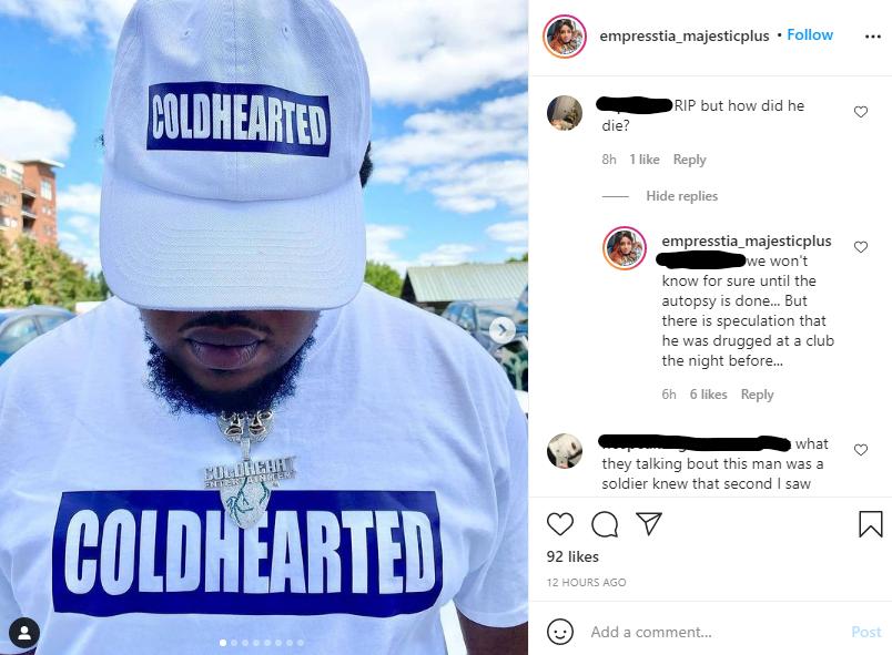cam coldheart dead