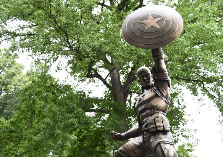 A Statue of Captain America
