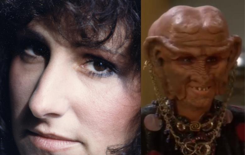 "Cecily Adams and her character Ishka on ""Star Trek: Deep Space Nine"""