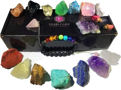 Chakra Therapy Crystal Kit Self Care Gifts for Mom