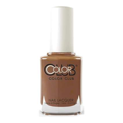 Coffee brown nail polish bottle