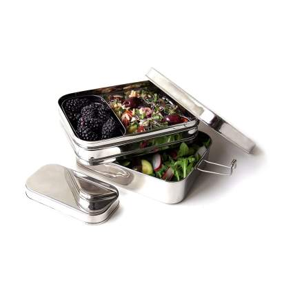 Ecolunchbox Three-in-One Stainless Steel Bento Box