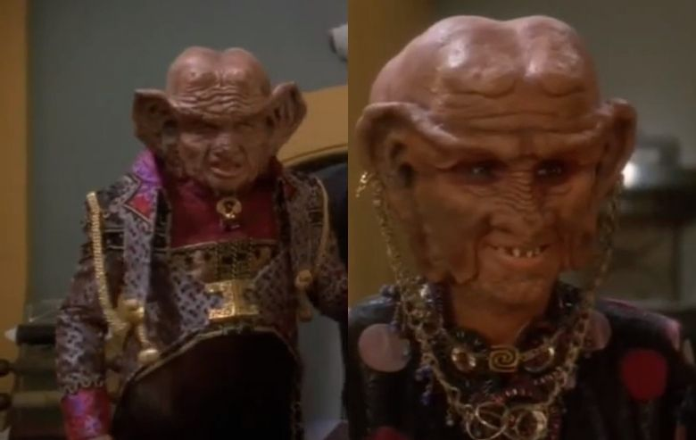 "Zek and Ishka, Ferengi characters from ""Star Trek: Deep Space Nine"""