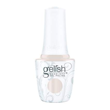 Pale cream gel nail polish bottle