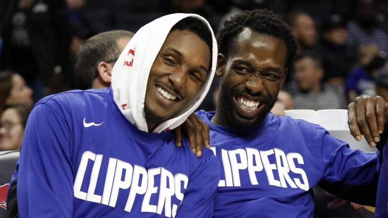 Lou Williams, left, and Clippers guard Patrick Beverley