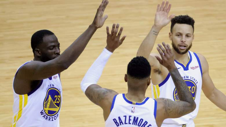 Draymond Green (left) and Steph Curry (right) hope to get the Warriors back to championship level.
