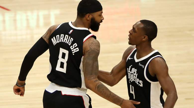 Marcus Morris Sr. and new Clippers PG Rajon Rondo