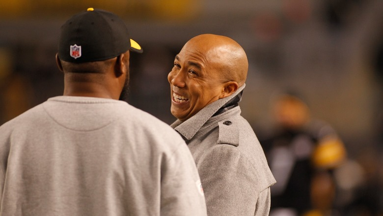 Hines Ward with Mike Tomlin