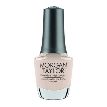 Light peach nude nail polish by Morgan Taylor