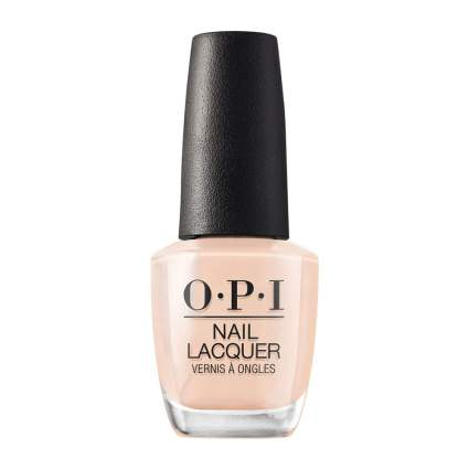 Peachy tan nail polish bottle by OPI
