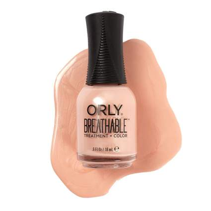 Orly beige nail polish bottle with spill swatch