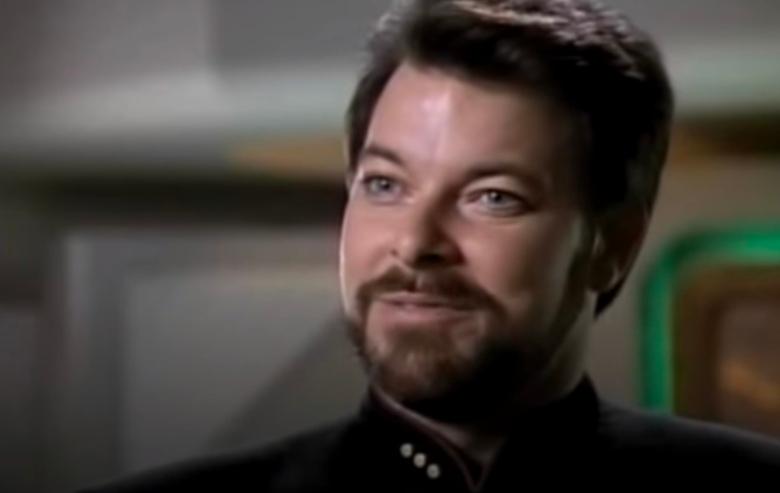 "Jonathan Frakes as Commander William T. Riker on ""Star Trek The Next Generation"""