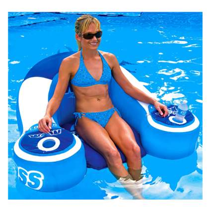 flotation chair with personal coolers
