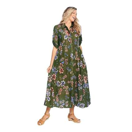 Woman Within Floral Dress
