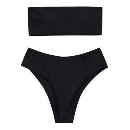 Zaful Bandeau Black Bikini