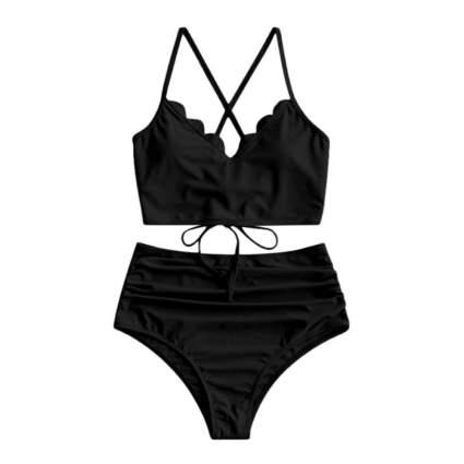 Zaful Black Bikini