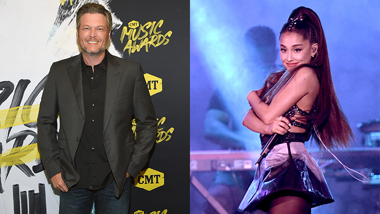Blake Shelton Ariana Grande the Voice