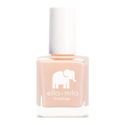 Light peach Ella + Mila nail polish bottle