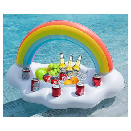 inflatable cloud and rainbow cooler