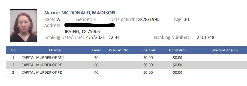 madison mcdonald irving texas