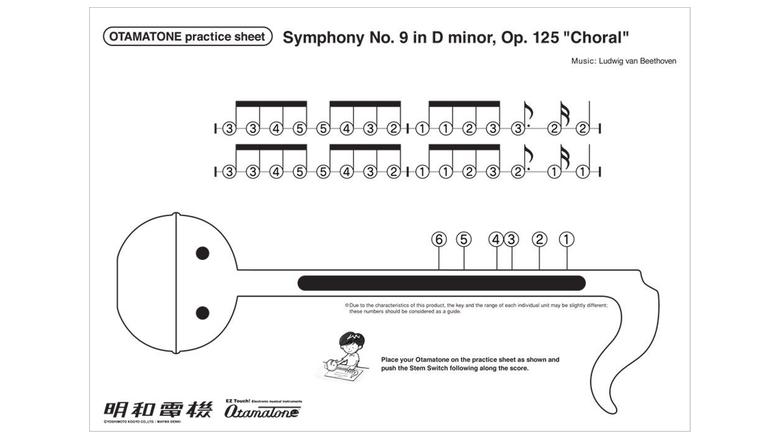 otamatone practice sheet