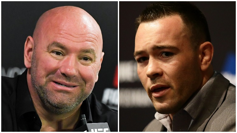 Dana White and Colby Covington