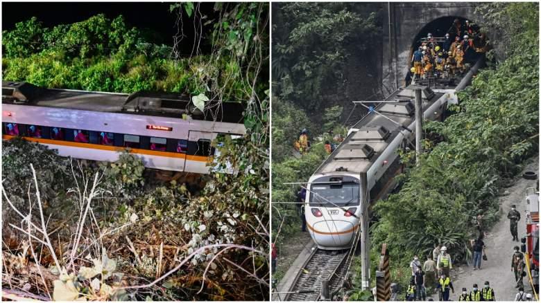 taiwan train crash videos