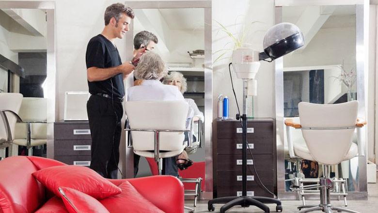 white salon chairs