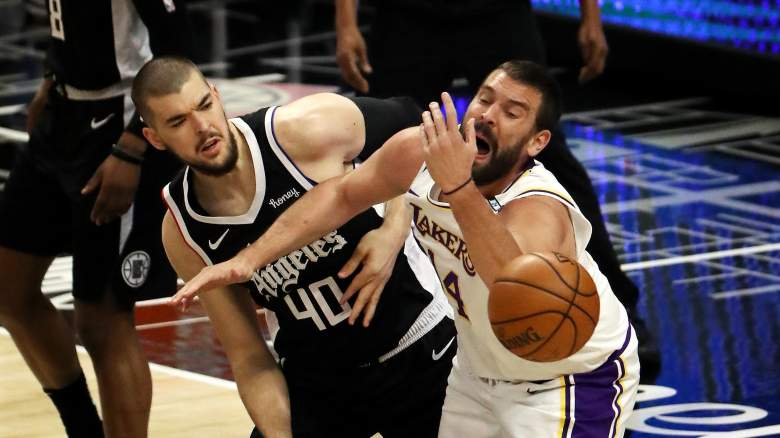 Ivica Zubac and Marc Gasol