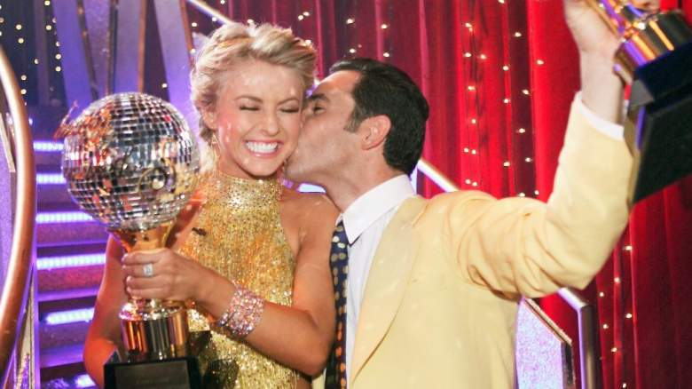 Julianne Hough and Helio Castroneves on Dancing With the Stars