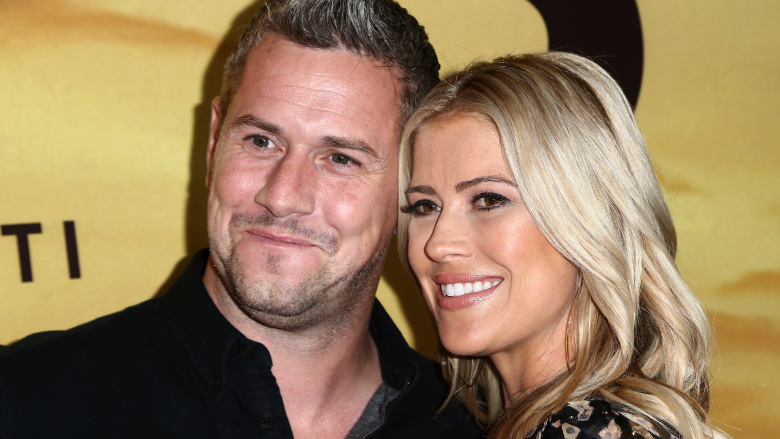'Flip or Flop' host Christina El Moussa with ex-husband Ant Anstead at a screening of Discovery's 'Serengeti.'
