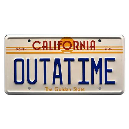 Back to the Future OUTATIME Metal Stamped License Plate
