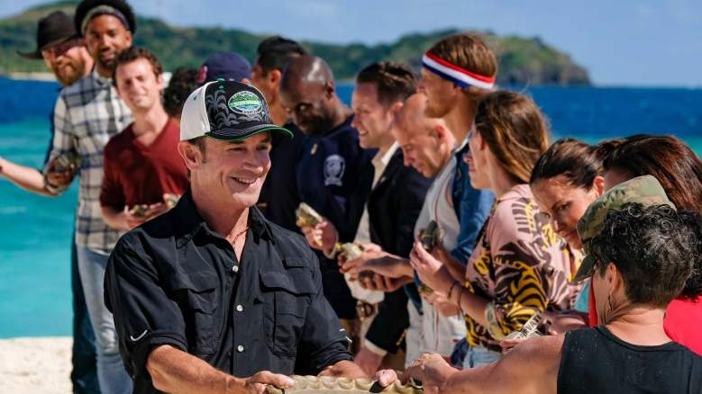 Jeff Probst and the cast of 'Survivor: Winners at War'