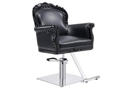 Black Victorian style salon chair