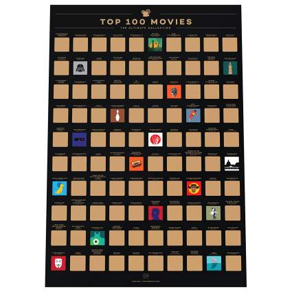 Enno Vatti 100 Movies Scratch Off Poster