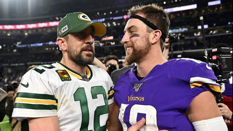Aaron Rodgers and Adam Thielen
