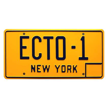 Ghostbusters ECTO-1 Metal Stamped License Plate