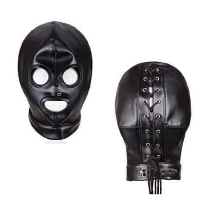 Simple black fetish hood