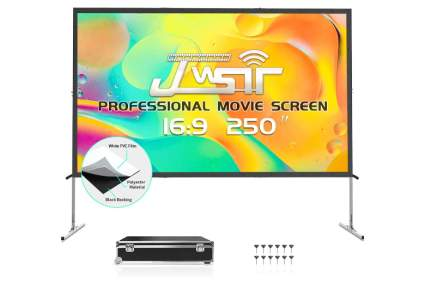 JSWIT 250-Inch Projector Screen with Stand