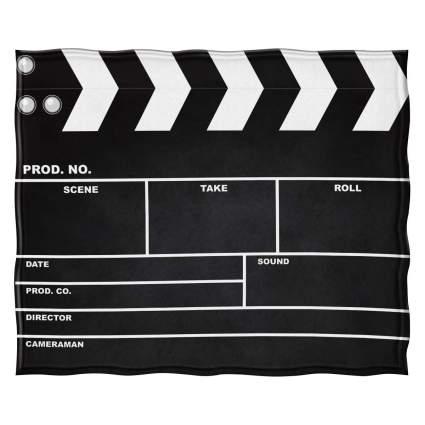 Jekeno Movie Clapboard Black Blanket