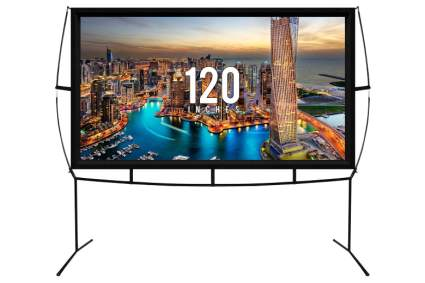 KHOMO GEAR 120-Inch Portable Outdoor and Indoor Movie Theater