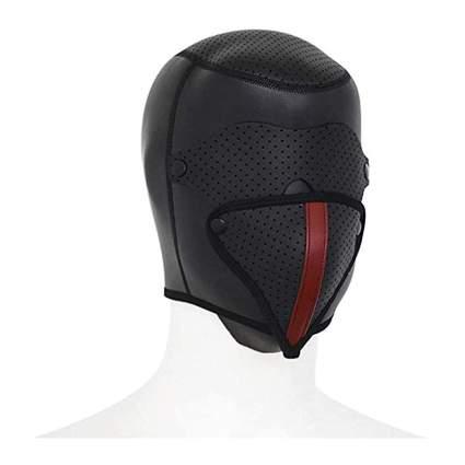 Black and red neoprene full face mask